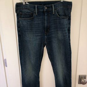 Levi's 513 slim straight jeans sz 34x30 EUC LN